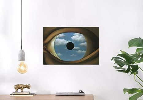Il Falso Specchio.Poster Rene Magritte Il Falso Specchio Stampa 32 X 44