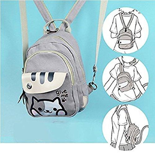 spionee Japanese Game Neko Atsum Cute Cat Anime Multifunctional Shoulder Bag, School Backpack Knapsack by spionee
