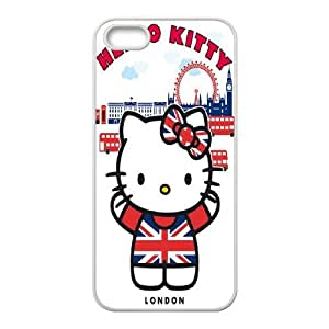 FOR Apple Iphone 5 5S Cases -(DXJ PHONE CASE)-Keep Smile - Hello Kitty-PATTERN 18