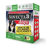 Advecta 3 Flea and Tick Topical Treatment, Flea and Tick Control For Dogs, Medium, 4 Month Supply