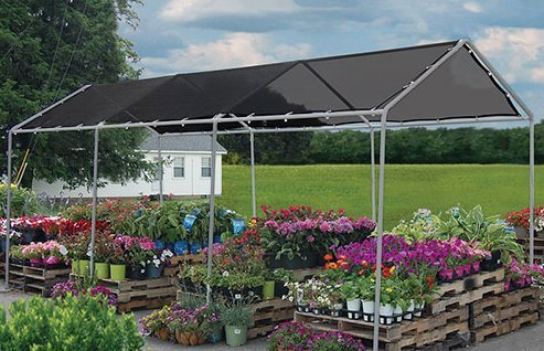 Heavy Duty Mesh Tarp Net Sail Sun Shade Awning and Fence Screen Patio and Canopy Cover 8X12 Black
