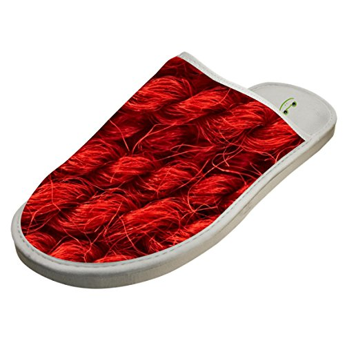 Slippers with Red Hemp Rope Line Original Indoor Sandals Family Shoes Flat Winter Sleeppers - Xiii Line Red Game