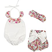 Messy Code Baby Girl Clothes Infant Romper Bodysuit Toddler Playsuit Boutique Girl Outfit Set Vintage Floral 9-12 Months