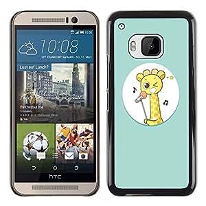 Dragon Case - FOR HTC One M9 - ?you love is not happy - Caja protectora de pl??stico duro de la cubierta Dise?¡Ào Slim Fit