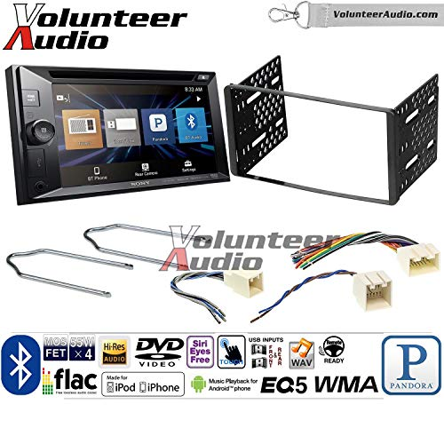 Volunteer Audio Sony XAV-W651BT Double Din Radio Install Kit with Bluetooth USB AUX Fits 2001-2004 Escape, 2000-2004 Excursion, 1999-2004 F-150, 2001-2003 Mustang