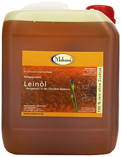 Makana Leinöl für Tiere, kaltgepresst, 5 Liter Kanister, 1er Pack (1 x 5 L)