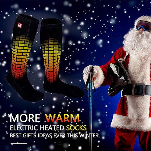 Gown Dressing Chauffaun: JUMOWA Foot Warmer Heated Socks,Rechargeable Battery 3