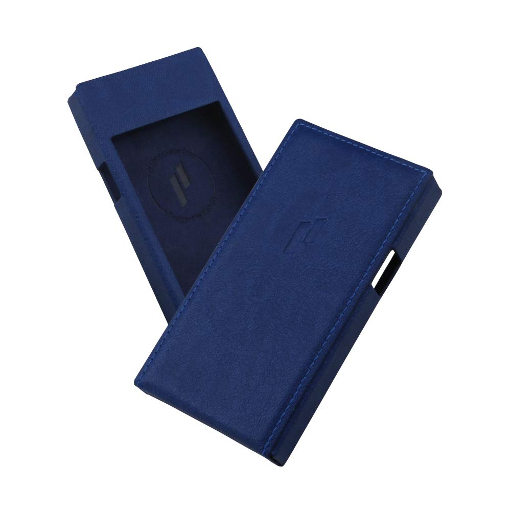 Leather Case for PLENUE J (Deep Blue) / Shock Absorbing Cover Case, Anti-Slip Grip