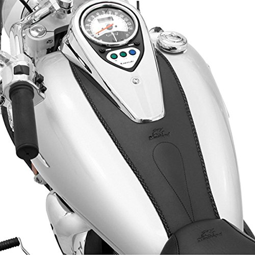 (Mustang Black Plain Tank Bibs for Harley Davidson 1999-2008 Yamaha V-Star 650 - One Size)