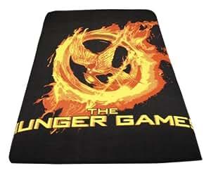 """The Hunger Games Movie - Polar Fleece 50""""x60"""" Throw, Mockingjay Fire"""