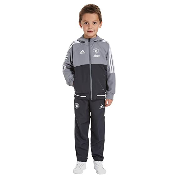 adidas MUFC Pre Suit I Chándal Manchester United FC, Niños: Amazon ...