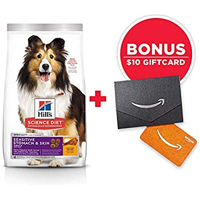 Hill's Science Diet Dry Dog Food, Adult, Sensitive Stomach & Skin, Chicken Recipe, 30 lb Bag w/Amazon Gift Card