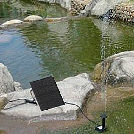 Anself 6V 1.2W Solar Power Water Pump for Garden Pond Foundation, 160L/H