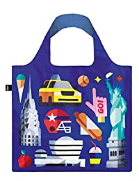 LOQI Hey.NY Reusable Tote Bag, New York Print, Multi, United States Carry-On