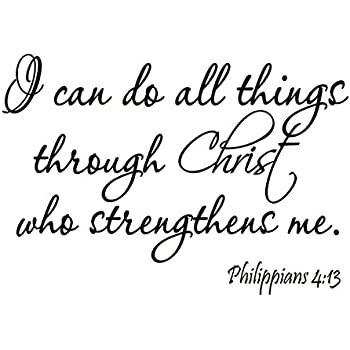 Amazoncom Vwaq I Can Do All Things Through Christ Who Strengthens