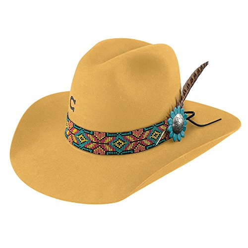 Charlie 1 Horse Women's Yellow Gold Digger 5X Cowgirl Hat Yellow 7 by Charlie 1 Horse (Image #1)