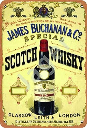 James Buchanan /& Co Special Scotch Whisky Bottle D Metal//Steel Wall Sign