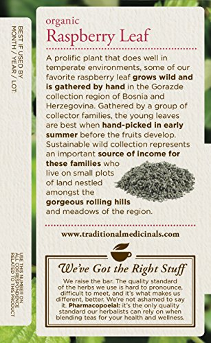 Traditional Medicinals Organic Raspberry Leaf Herbal Tea, 16 Tea Bags (Pack of 6) by Traditional Medicinals (Image #3)
