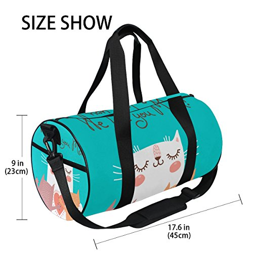 U LIFE Happy Mother Day Cute Cat Love Mom Sports Gym Shoulder Handy Duffel Bags for Women Men Kids Boys Girls by ALAZA (Image #3)