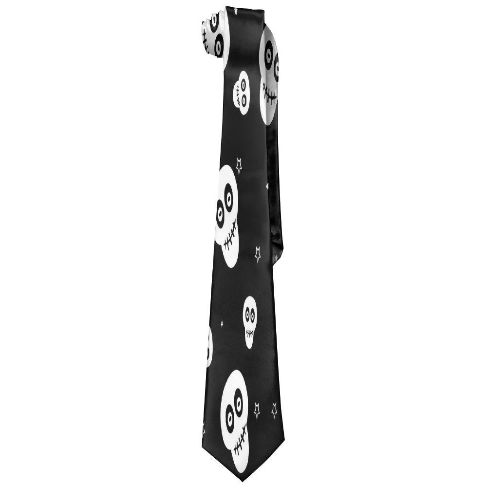 Mens Cute Skull Evil Classic Casual Tie Necktie