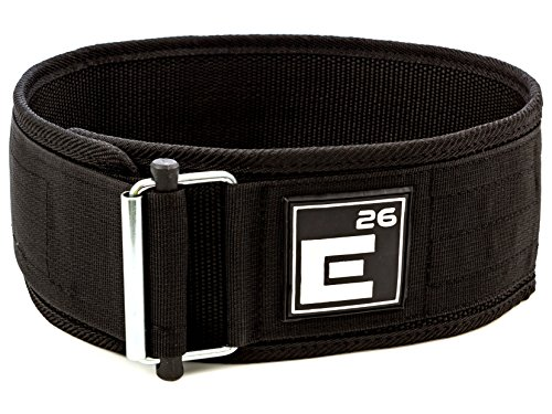 Self-Locking Weightlifting Belt by Element 26 | Best for Weight Lifting, Crossfit, Olympic Lifting, Squats, and Deadlifts | Optimally Designed by a Doctor of Physical Therapy