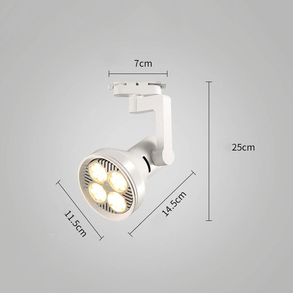 Mei Xu Track Light - Scandinavian Spotlights - Black/White - 20W/30W/40W - Single Track Lamp (Color : White, Size : 30w)