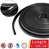 Door Edge Guard/Protected Lining/Trim Molding fits most cars,Car Door Edge Guards Trim Rubber Seal Protector Guard Strip Car Protection Door Edge fits most cars(16Ft Black,No Glue Required): more info