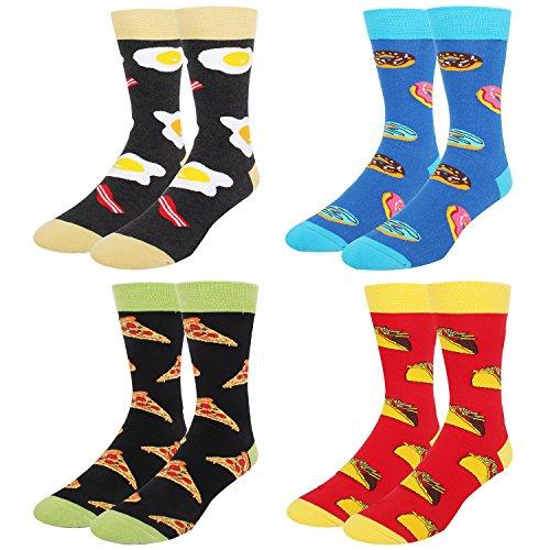 Men's Funny Novelty Crew Dress Socks Cra...