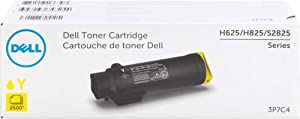 DELL 3P7C4 High Yield Yellow Toner Cartridge for H625, H825, S2825 Printers, 1 Size
