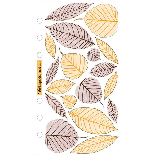 Sticko Vellum Stickers - Brown & Orange Leaves (Orange Vellum)