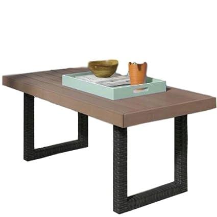 Amazon Com Gt Patio Coffee Table Rectangular Side Table Garden