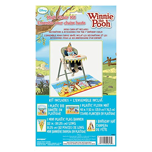 Winnie The Pooh First Birthday High Chair Decorating Kit 4pc