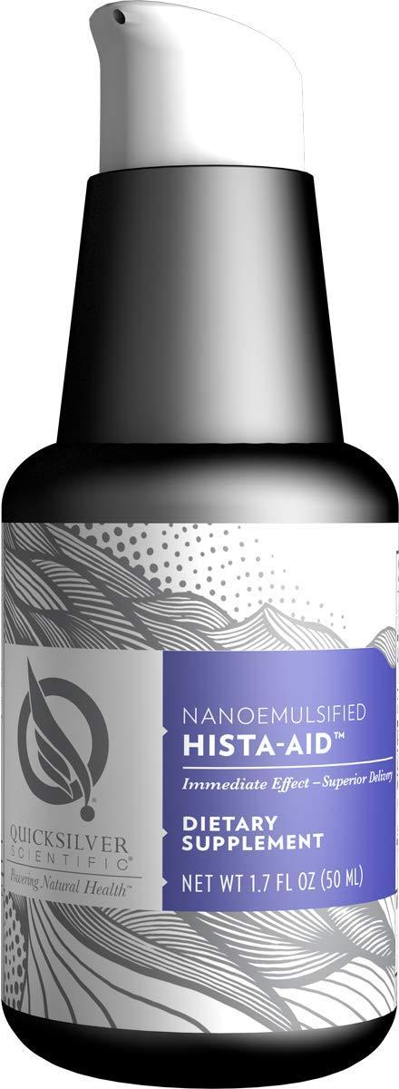 Quicksilver Scientific Nanoemulsified Hista-Aid - Liposomal Seasonal Support with Flavonoids, Vitamin C + Diindolylmethane (DIM) (1.7oz / 50ml)