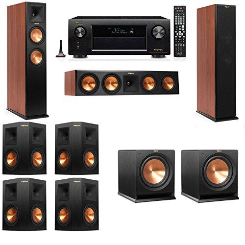 Klipsch RP-250F Tower Speakers CH-R112SW-7.2-Denon AVR-X4100W
