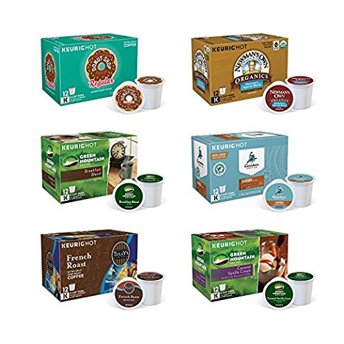 Keurig Single-Serve K-Cup Pods, Variety Pack, 72 Count (6 Boxes of 12 Pods) by Green Mountain Coffee