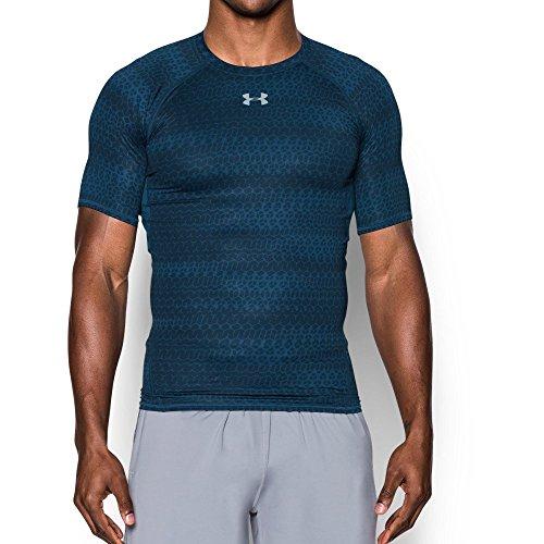 0314e06e009fd Galleon - Under Armour Men s HeatGear Armour Printed Short Sleeve  Compression Shirt