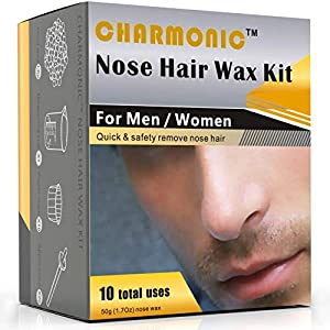 Nose Wax Kit for Men and Women, Nose Hair Removal Wax (50 grams / 10 times usage count)
