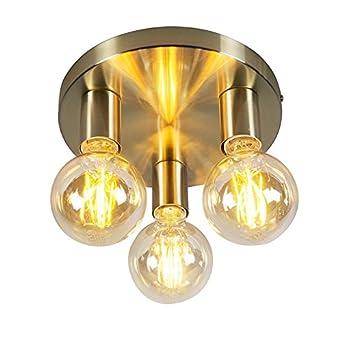 Qazqa Design Modern Deckenleuchte Deckenlampe Lampe Leuchte Facil 3