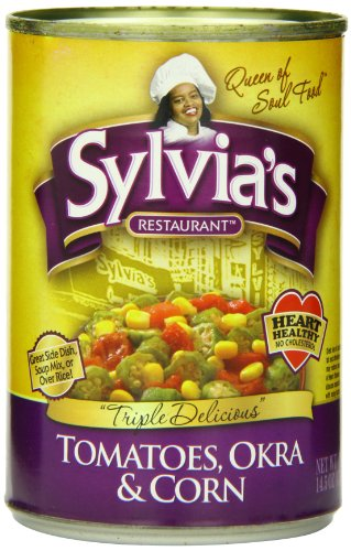 Sylvia's Tomatoes, Okra & Corn, 14.5-Ounce Cans (Pack of 12)