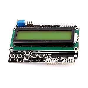 LCD1602 Display LCD de matriz de puntos Escudo teclado Módulo de pantalla 5V para el MCU