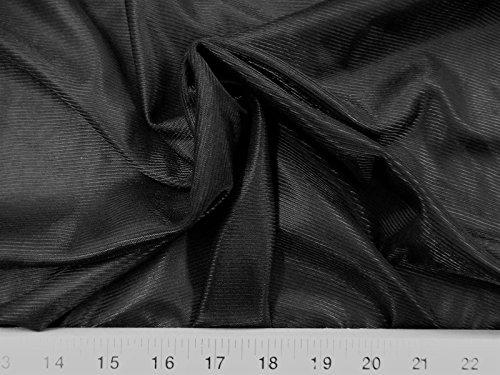 Yard Fabric Nylon 40 Denier Tricot Stretch Black 108 inch Wide TR15