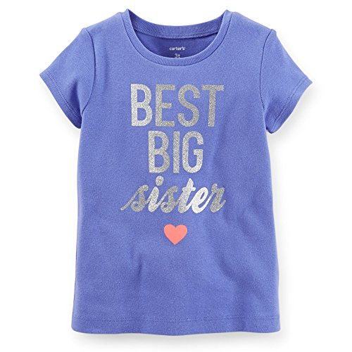 Carter's Little Girls Best Big Sister Tee (2T Blue)