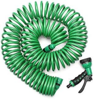 Eva 20 m tubo de manguera de jardín agua en espiral con boquilla lavado coche..: Amazon.es: Jardín