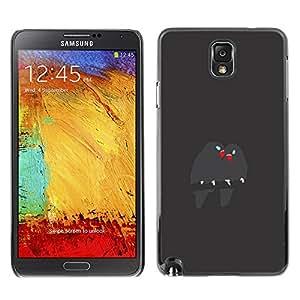 TopCaseStore / la caja del caucho duro de la cubierta de protección de la piel - Cute Birds Branch Grey Beak Love - Samsung Galaxy Note 3 N9000 N9002 N9005