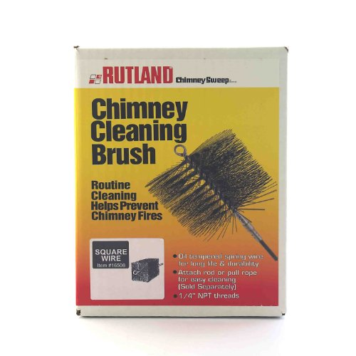Rutland 16512 12-Inch Square Wire Thread Fitting Chimney Sweep, 1/4-Inch Pipe