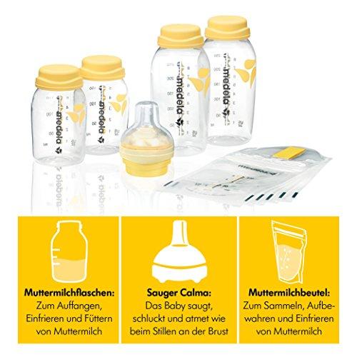 Medela Babyflaschen Set Sauger Calma und Muttermilchbeutel inkl