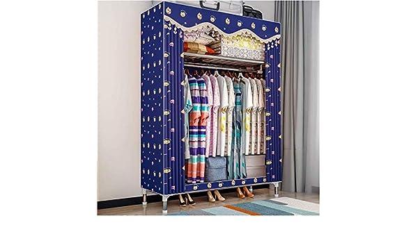 Armarios adultos armario, estilo de la cortina cortina de tela, plegable 80x46x168cm armario, armario con vestidor mesa de vestir textiles no tejidos,D: Amazon.es: Hogar