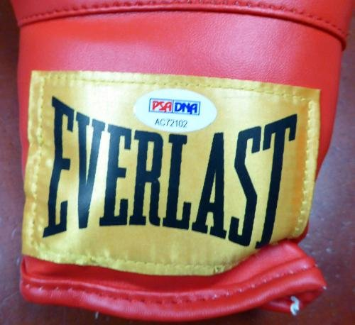 Roberto Duran Autographed Signed Red Everlast Boxing Glove Rh 112587 PSA/DNA Certified Autographed Boxing Gloves