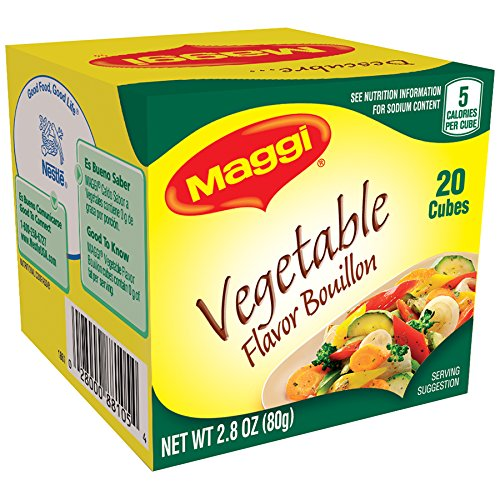 Maggi Vegetable Flavor Bouillon Cubes, 2.82 (Veggie Bouillon Cubes)