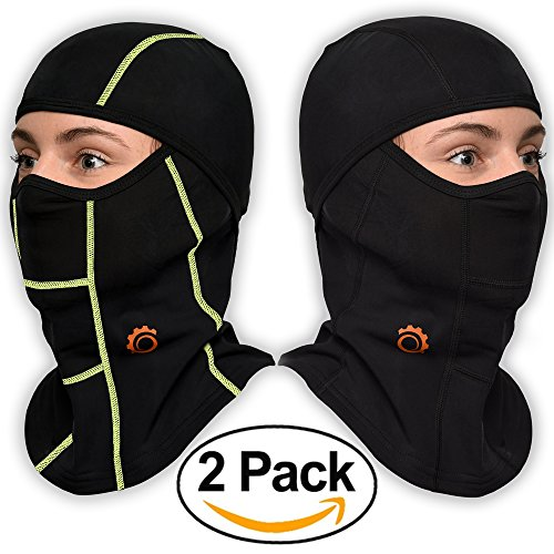 Face Mask Motorcycle Balaclava (Black/Green + Black - 2 (Communist Halloween Masks)